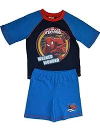 Pour garçon Motif Spiderman Marvel fantastique Pyjama en coton laisse courte bustier