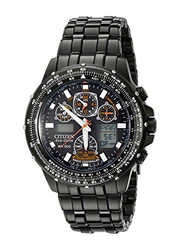 Citizen JY0005-50E - Reloj digital de cuarzo para hombre, correa de acero inoxidable