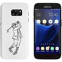 Weiß 'Golfschwung' Hülle für Samsung-Galaxie S7 (MC00035276)