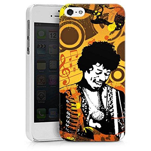 Apple iPhone X Silikon Hülle Case Schutzhülle Musik Jimi Hendrix Gitarre Hard Case weiß