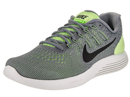 Men's Nike LunarGlide 8 Running Shoe GHOST GREEN/BLACK-COOL GREY