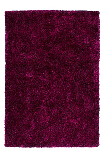 Lalee 347239603 Hochwertiger und handgemachter Designer Hochflor Shaggy Teppich, 200 x 290 cm, violet