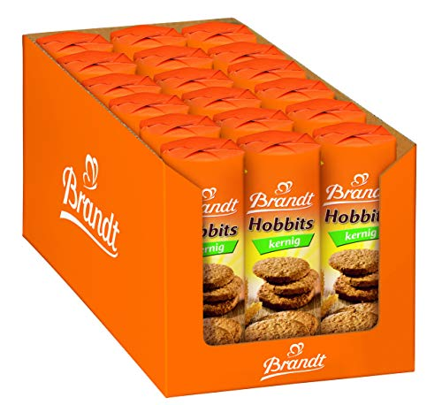 Brandt Hobbits 18er Pack (18 x 250 g)- knackiger Vollkornkeks mit Haferflocken, ballaststoffreiches Gebäck für die ganze Familie