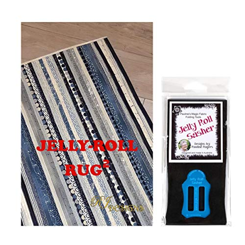 Jelly Roll Design (Jelly Roll Bundle: RJ Designs Jelly Roll Rug 2 kariertes Muster und Pauline's Quilters World Jelly Roll Sasher Tool)