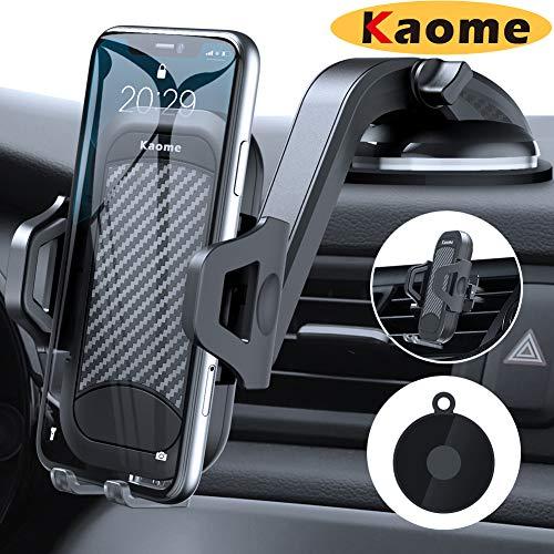 Kaome Aktualisiert 3 in 1 Handyhalterung Auto Lüftung & Saugnapf Handyhalter fürs Auto Handyhalterung Universal Smartphone Halterung Auto Handy KFZ Halterung für iPhone 11/11Pro Max Samsung Galaxy
