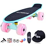 Lililili 22 Zoll Komplettes Skateboard, Tricks Skate Board Für Anfänger, Geburtstagsgeschenk,G,22''Longx6''Wide