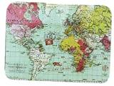 Voyager Schneidebrett aus Glas, Motiv: Weltkarte Chinchilla, 30 x 40 cm