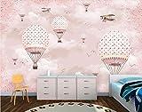 Keshj Personalizza Carta Da Parati Personalità Murale Rosa Cartoon Mongolfiera Per Bambini Muro 3D Wallpaper-300Cmx210Cm