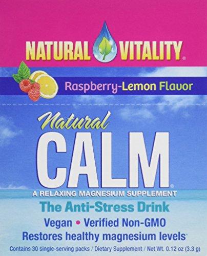 Natural Vitality Natural Calm Pakete Ernährung Nahrungsergänzungsmittel, Raspberry Lemon, 30Zählen
