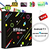 [Shipping from Amazon]-Android TV Box, H96 Max 4GB + 32GB Smart 4K TV Box Android 7.1 RK3328 Quad Core CPU Set Top Box Compatible Con TV 3D 4K Ultra HD Smart TV Box