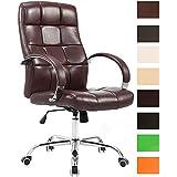 CLP Silla de escritorio MIKOS. Esta silla tiene un diseño elegante y la altura del asiento es regulable. El acolchado es de primera calidad y soporta un peso máximo de 120 kg. burdeos