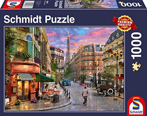 Schmidt Spiele Puzzle 58387 Straße zum Eiffelturm, 1000 Teile Puzzle, bunt