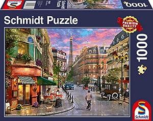 Schmidt Spiele 58387 - Puzzle (1000 Piezas), diseño de la Torre Eiffel