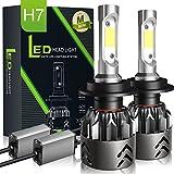 H7 LED Scheinwerferlampe Birnen WSKY Ersatzlampe Auto Scheinwerfer 8000LM/6000K/9V-36V/IP68, Driving Glühlampe mehr als 50000 Stunden Lebensdauer (2 Stück)