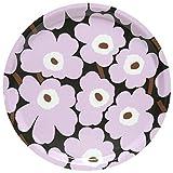 Marimekko - Mini UNIKKO Tray - Tablett - Holz - dunkelgrün, rosa, braun - Ø 31cm