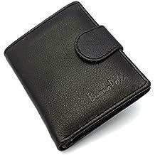 Para hombre Real de piel auténtica de alta calidad funda Buono pelle–Cartera Tarjeta de crédito Holder Monedero en caja de regalo