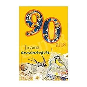 Carte Joyeux Anniversaire 90 ans - Cadeau Maestro