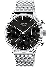 Dugena Herren-Armbanduhr Sigma Chrono - Traditional Classic Analog Quarz Edelstahl 7090201