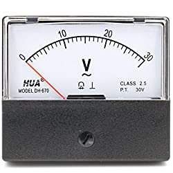 Heschen Rectangular Style Ac 0-30 V Class 2.5 Voltmeter Analog Panel Volt Voltage Meter 670