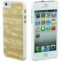 SunSmart Unikat Holz Hülle Bambus Schutzhülle für iPhone 5 - Genuine Holz Bambus Backing Shell-Fall-Abdeckung mit schlagfestem Kunststoff Kanten