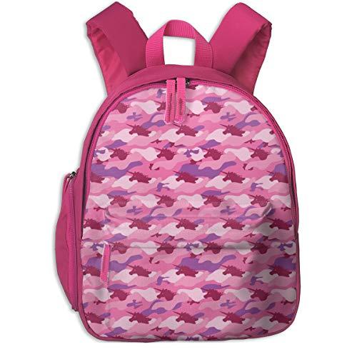 Zaino per bambini 2 anni,Unicorno Camo Rosa (piccolo) _3231 - ophelia, Per scuole per bambini Oxford panno (rosa)