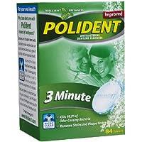 Polident - 3 Minute - Tablettes Nettoyantes Prothèse Dentaire - 84 Unités