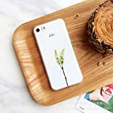 elegantstunning Handyhülle Handy Schutz Fall Weich Kreativ Silikon für iPhone 7 / iPhone 7 Plus Bäumchen Blumen