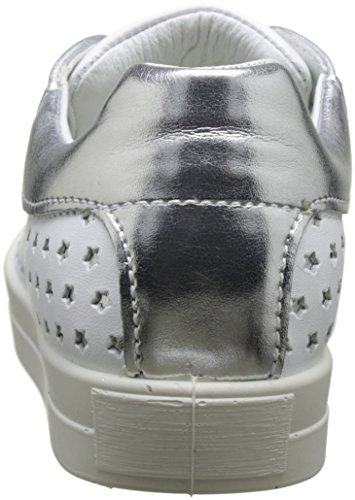 Primigi Pan 7582, Baskets Basses Fille Blanc (Bco/Argent/Argent)
