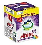 Ariel 3 in 1 Pods Colorwaschmittel, 1er Pack (1 x 64 Waschladungen) -