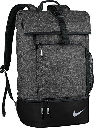 Nike Sport Backpack–Golftasche, Unisex – Erwachsene, Sport Backpack, Schwarz / Silber, Einheitsgröße Nike Sport Rucksack