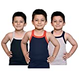 #8: Kids basket Baby Boys 100% Pure Cotton RIB Vest For Kids Boys Pack Of 3 - Premium Comfort Innerwear Regular Use