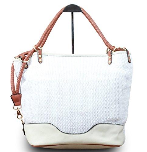 My-Musthave, Borsa tote donna Bianco bianco Medio bianco