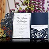 Starter per matrimoni -10pcs stile europeo laser Cut wedding Invitations Cards, Tri-Fold pizzo Business biglietti d' invito, decorazione per festa