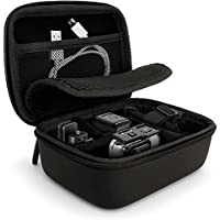 iGadgitz Black EVA Carrying Hard Travel Case Cover with Carry Handle for GoPro Action Cameras