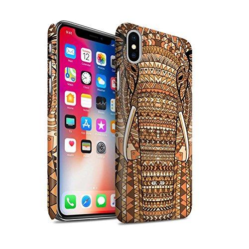 Clipser Matte Coque de Stuff4 / Coque pour Apple iPhone 7 Plus / Loup-Pourpre Design / Motif Animaux Aztec Collection éléphant-Orange