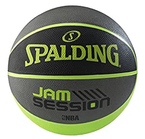 Spalding 1700031 Rubber Basket Ball, Size 7 (Black/Grey)