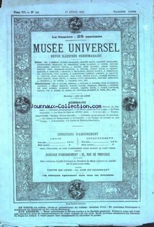 MUSEE UNIVERSEL [No 133] du 17/04/1875