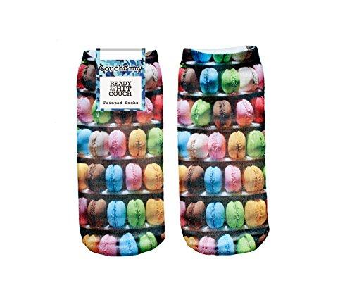 Coucharmy TrickyBZ Donuts Unicorn Früchte Fullprint Sneaker Socken Strümpfe Füßlinge Halbsocken All Over Einheitsgröße (36-40) (Einheitsgröße (36-40), Macaroons)