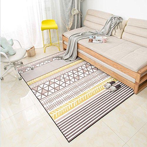 Qiangzi Alfombras y alfombras de alta calidad Estilo Nórdico Sala De Estar Rectángulo Patrones Geométricos Alfombra Dormitorio Simple Manta Cama Color Tamaño Opcional Alfombra Deco, perfecta para sala de estar - comed ( Color : Amarillo , Tamaño : 100CM*150CM )