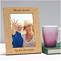 "PERSONALISED Photo Frame for Mummy Mum Nanny Nan Her - ANY TEXT, ANY MESSAGE - Custom Engraved Mothers Day Gifts Presents - Mum Mummy Nanny Nanna Granny - 5"" x 7"" and 6"" x 4"" Photo Picture Frames"