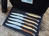 Original Laguiole en Aubrac Premium Steakmesser Tafelmesser EUROPÄISCHE HÖLZER geschmiedet