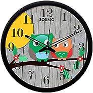 Amazon Brand - Solimo 12-inch Wall Clock - Melanie (Silent Movement, Black Frame)