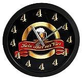 Ideal Wanduhr aus Kunststoff 30 cm Kein Bier vor 4 Uhr Bieruhr Wand Uhr