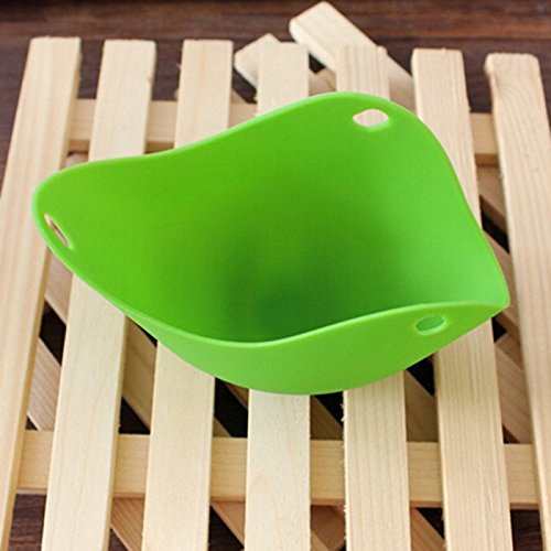 YOKIRIN Cook Poached Egg Pods Silicone Kitchen Cookware Tool Poached Baking Cup - Green