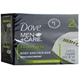 Dove Men + Care Body and Face Bars Extra Fresh 2-Count 113 g Soap