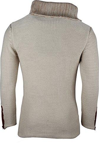 9f352700569a ... TAZZIO Herren Strickjacke Grobstrick Pullover Warmer Hoodie  Kapuzenpullover Winter Sweatshirt Strickpullover Sweater Größe S - XXL ...