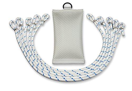FBS Fahnengewicht Beschwerungssäckchen 700 Gramm für Fahnen | Fahnenmast mit 5 Fahnenschlingen (Set)