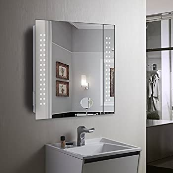 led bathroom mirror cabinet mirror cabinet 60 led light illuminated mirror bathroom 22567