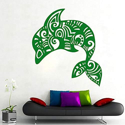 Kunst Wandaufkleber Fisch Raumdekoration Niedlichen Delphin Wandtattoo Ornament Poster Vinyl Art Removeable Mural ~ 1 57 * 64 cm -