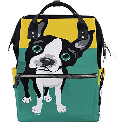 KW-Wosn Queue Hund Welpe Windel Rucksack Große Kapazität Baby Taschen Multifunktions Reißverschluss Lässig Reiserucksäcke